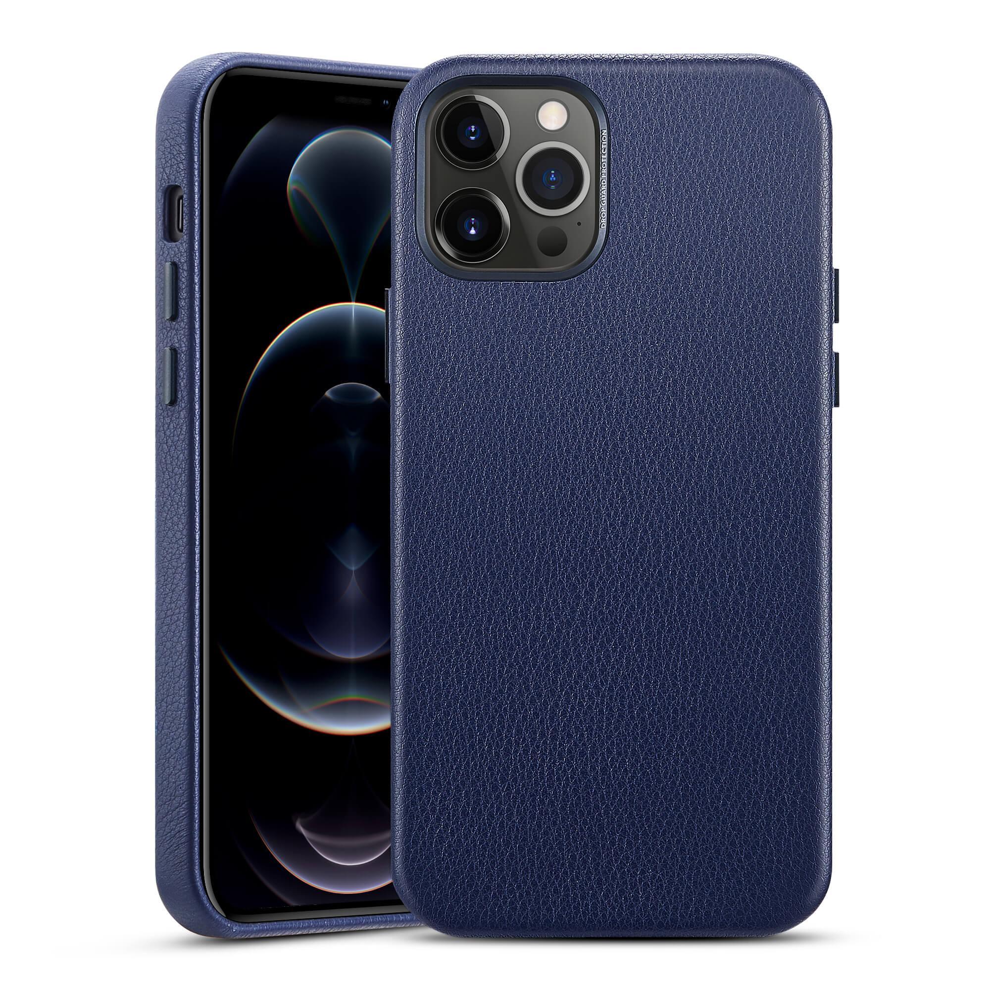 Premium Leather Case iPhone 12/12 Pro Navy Blue