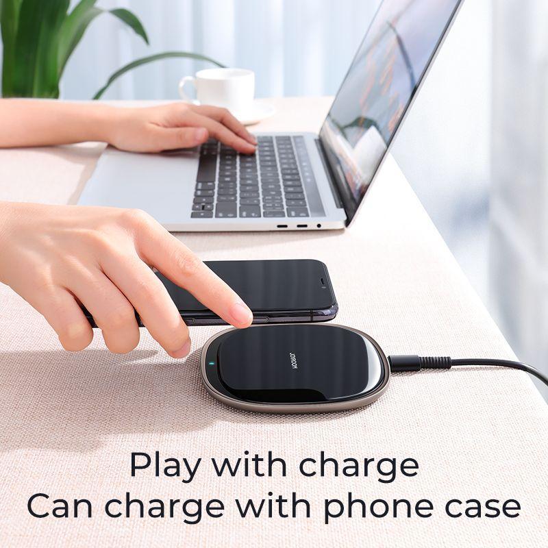 Wireless Charger 15W Svart (JR-A23)