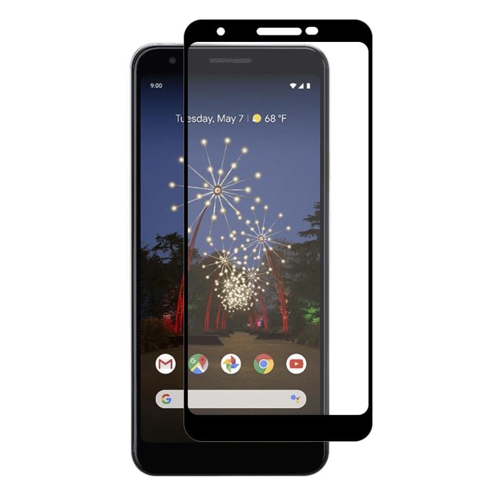 Full Glue Tempered Glass Google Pixel 3a Black