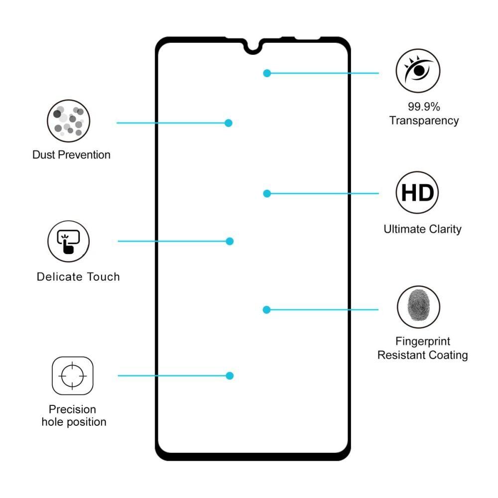 Full Glue Tempered Glass Huawei P30 Lite Black