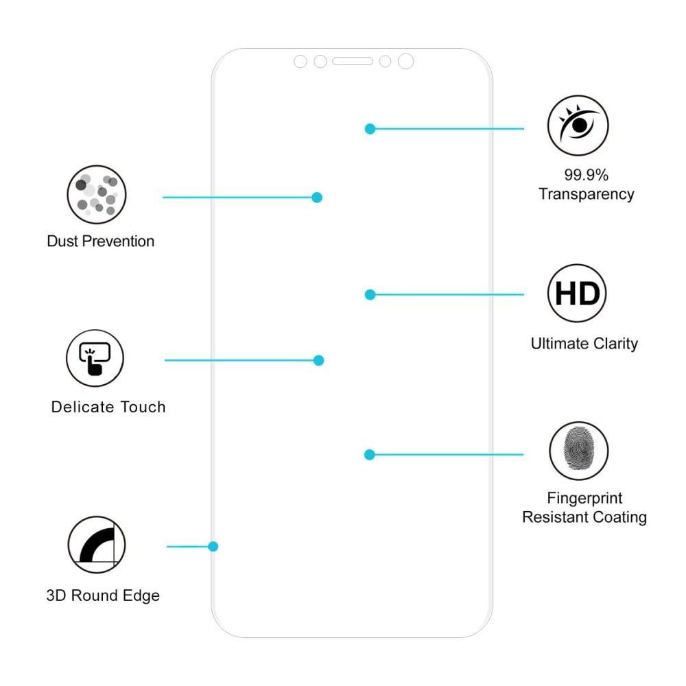 Heltäckande Curved Skärmskydd iPhone 11/XR