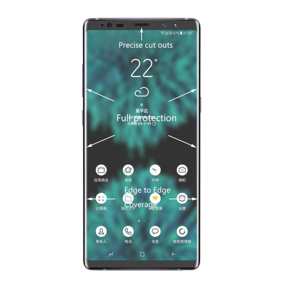 Heltäckande Curved Skärmskydd Samsung Galaxy Note 9
