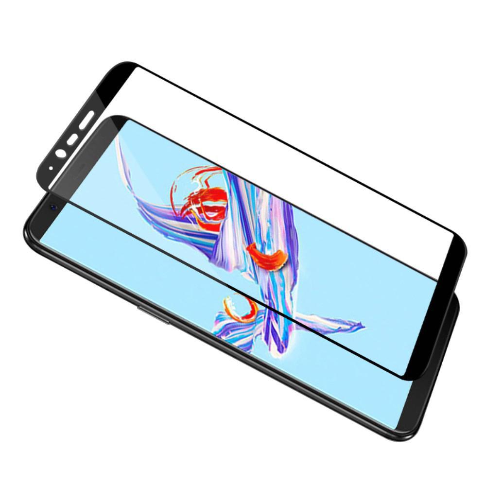 Heltäckande Härdat Glas OnePlus 5T svart