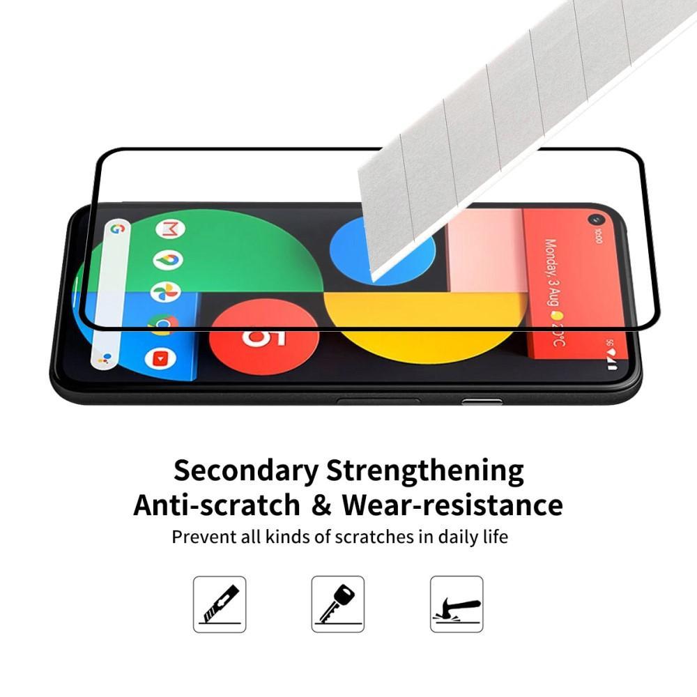 Full Glue Tempered Glass Google Pixel 5 Black