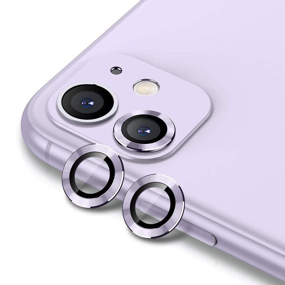 Härdat Glas Linsskydd Aluminium iPhone 11 lila