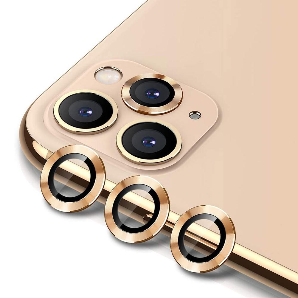Härdat Glas Linsskydd Aluminium iPhone 11 Pro/11 Pro Max guld