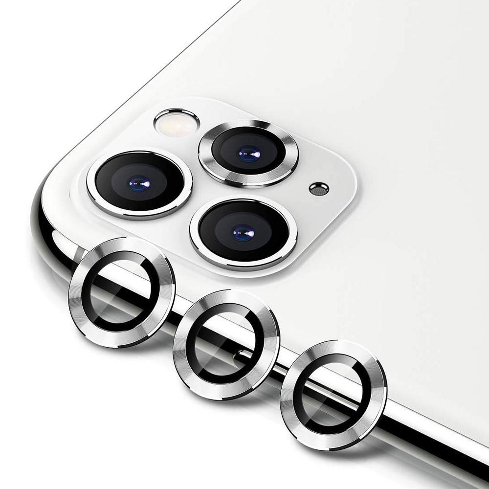 Härdat Glas Linsskydd Aluminium iPhone 11 Pro/11 Pro Max silver