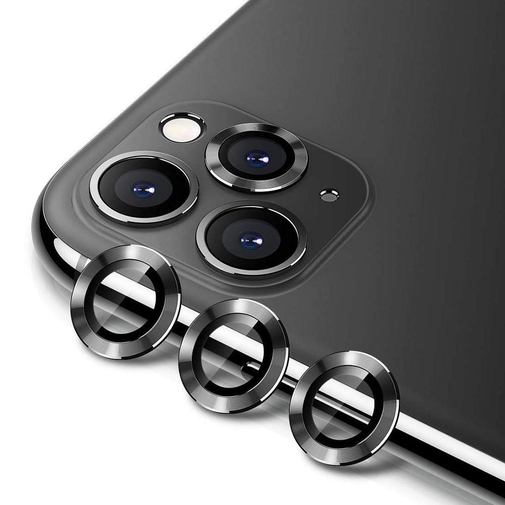 Härdat Glas Linsskydd Aluminium iPhone 11 Pro/11 Pro Max svart