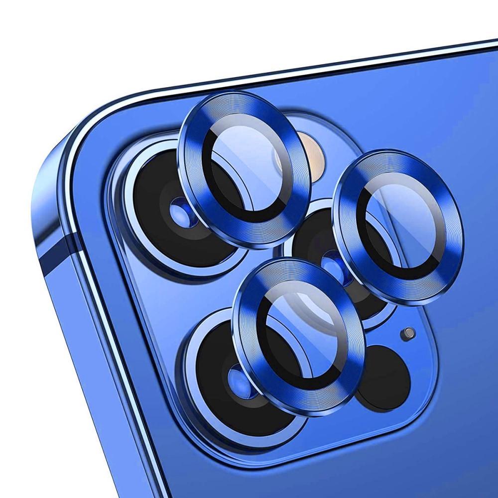 Härdat Glas Linsskydd Aluminium iPhone 12 Pro blå