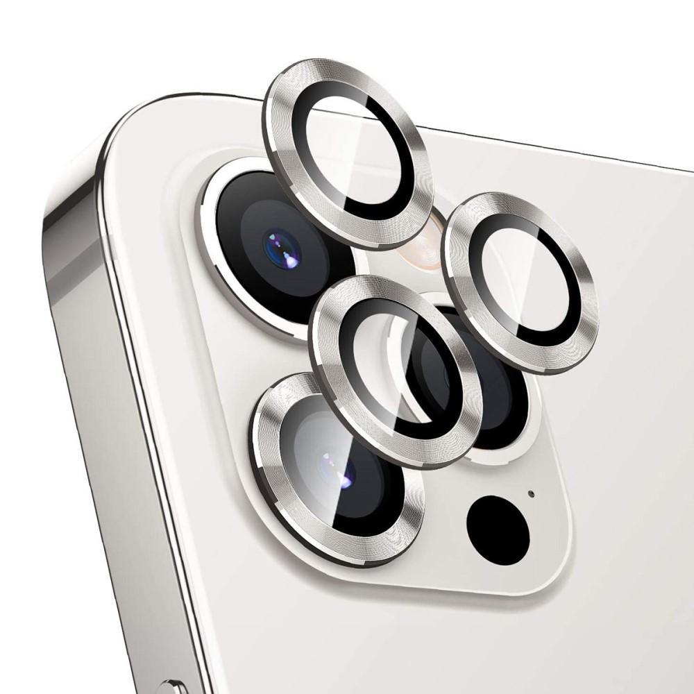 Härdat Glas Linsskydd Aluminium iPhone 12 Pro silver