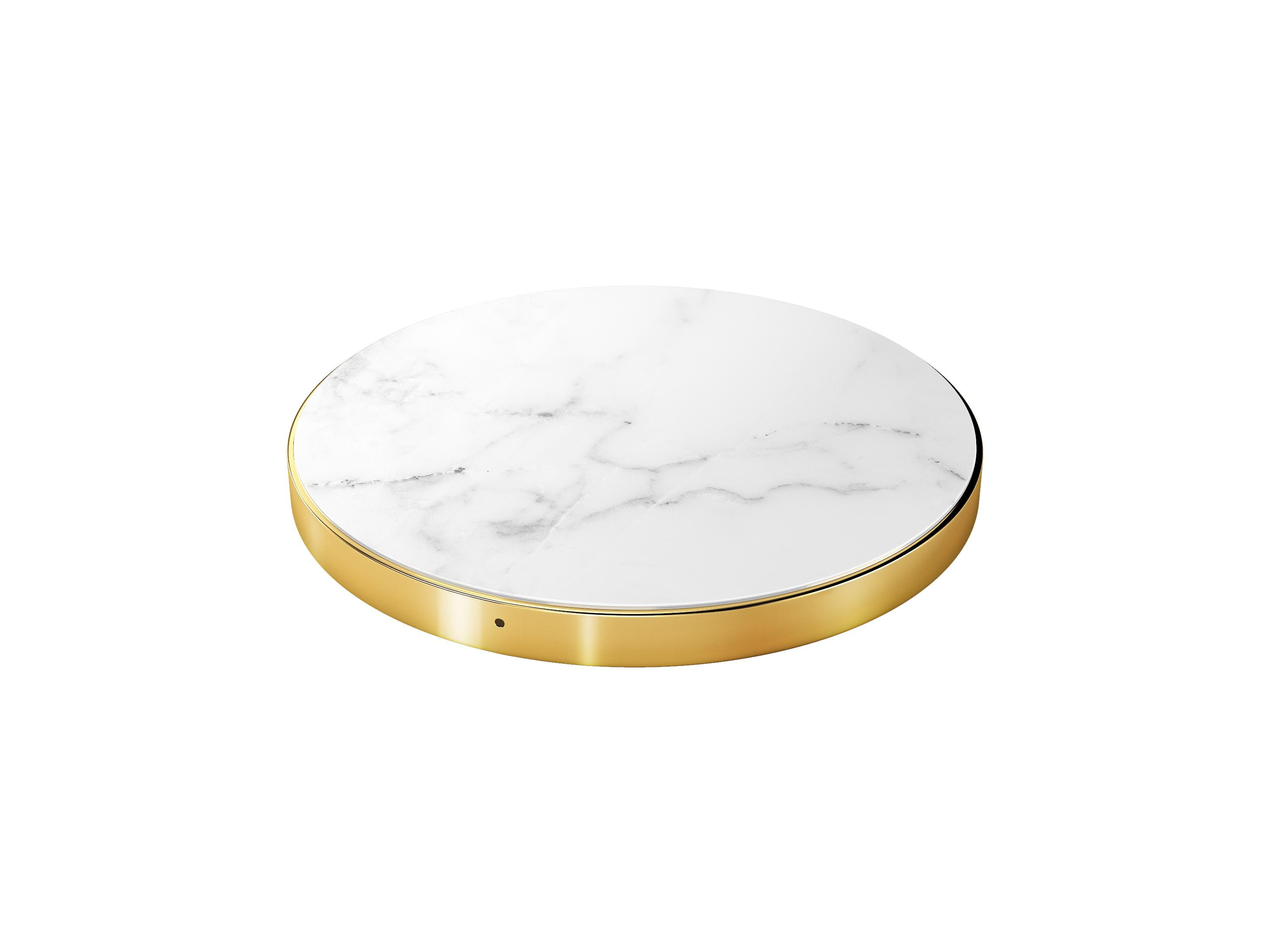 Fashion Qi Charger White Marble