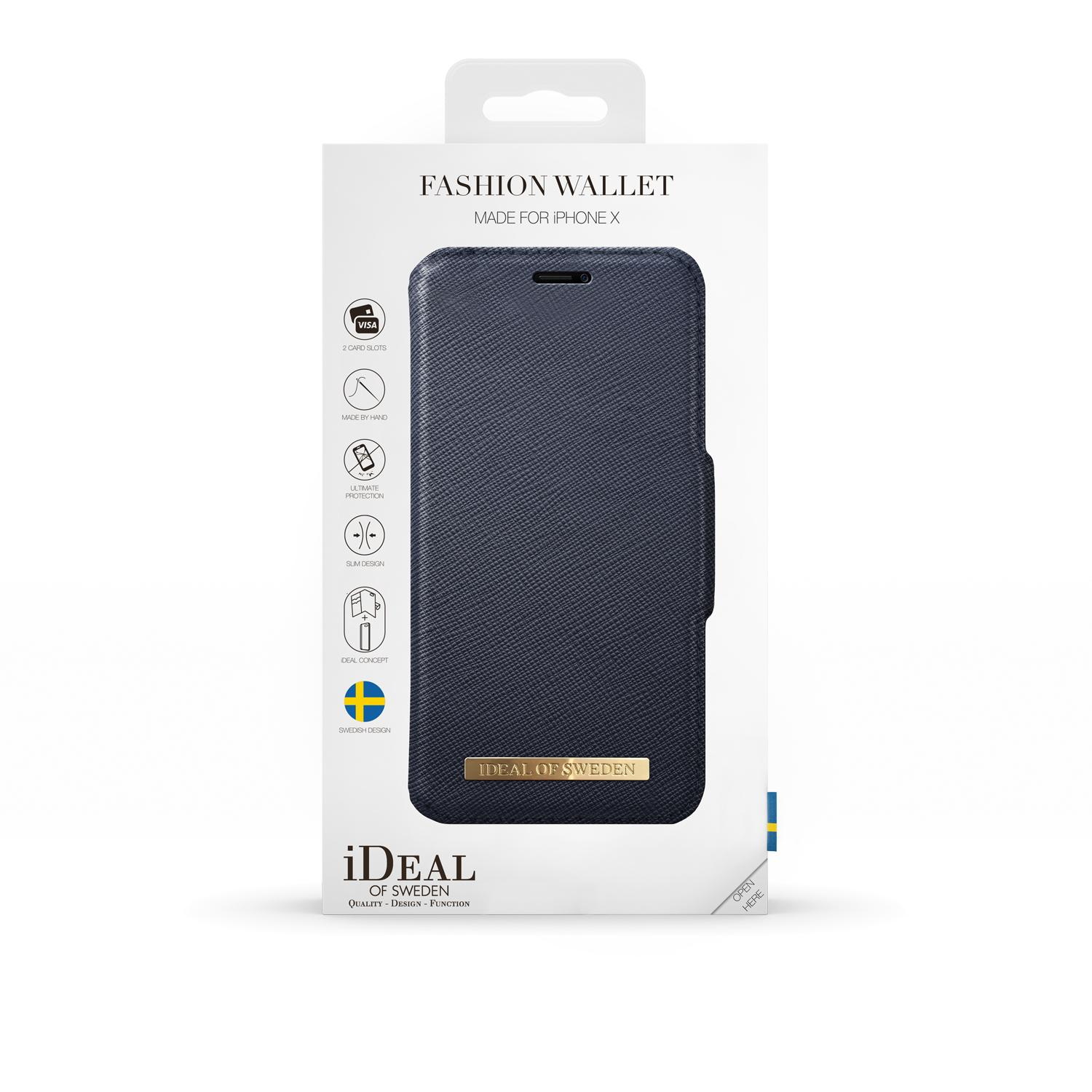 Fashion Wallet iPhone X/XS Navy