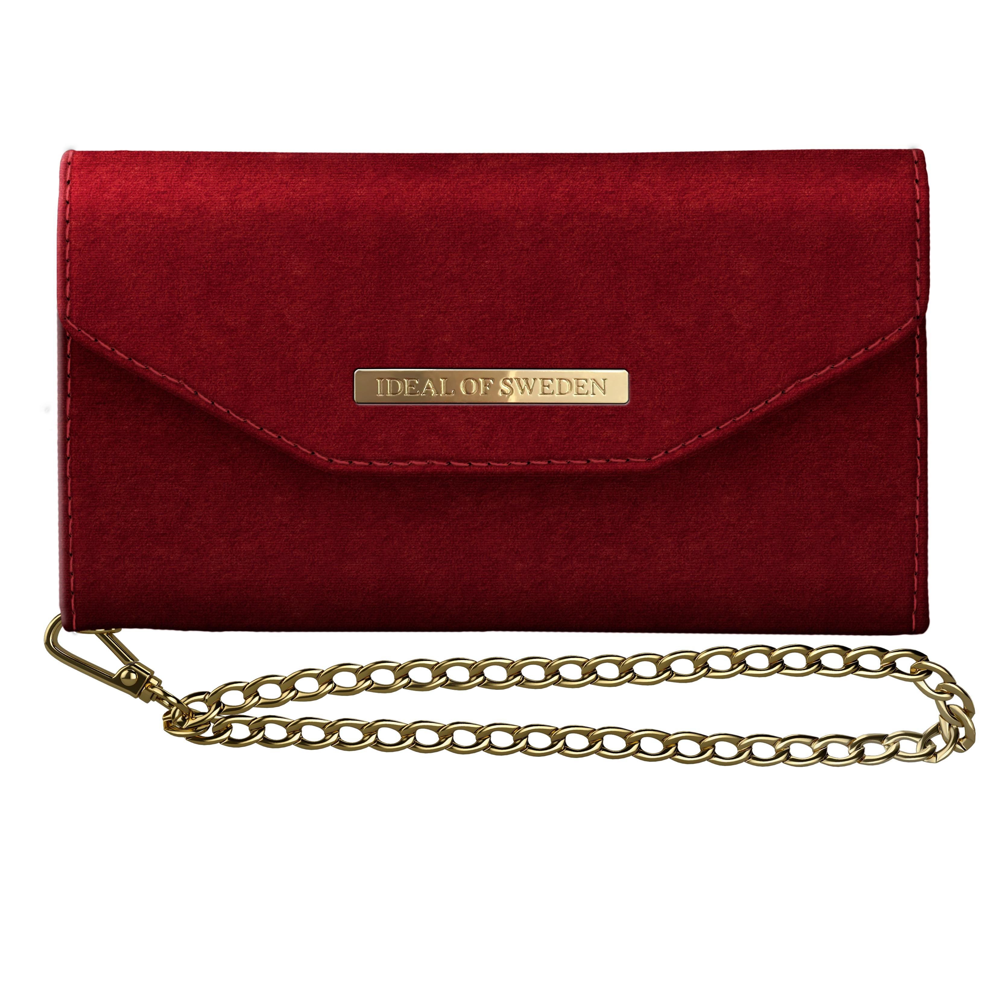Mayfair Clutch Velvet iPhone XS Max Red