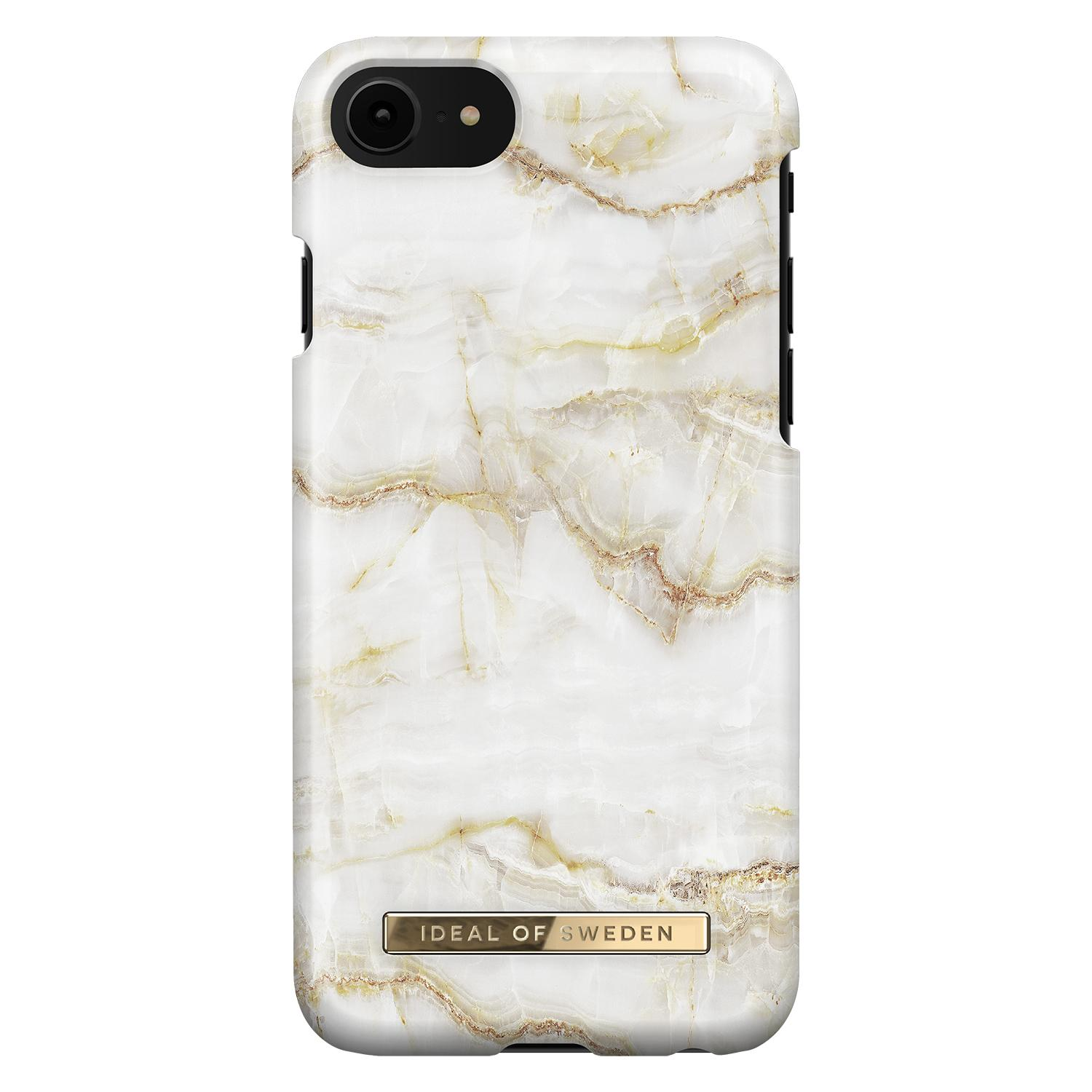 Fashion Case iPhone 6/6S/7/8/SE 2020 Golden Pearl Marble