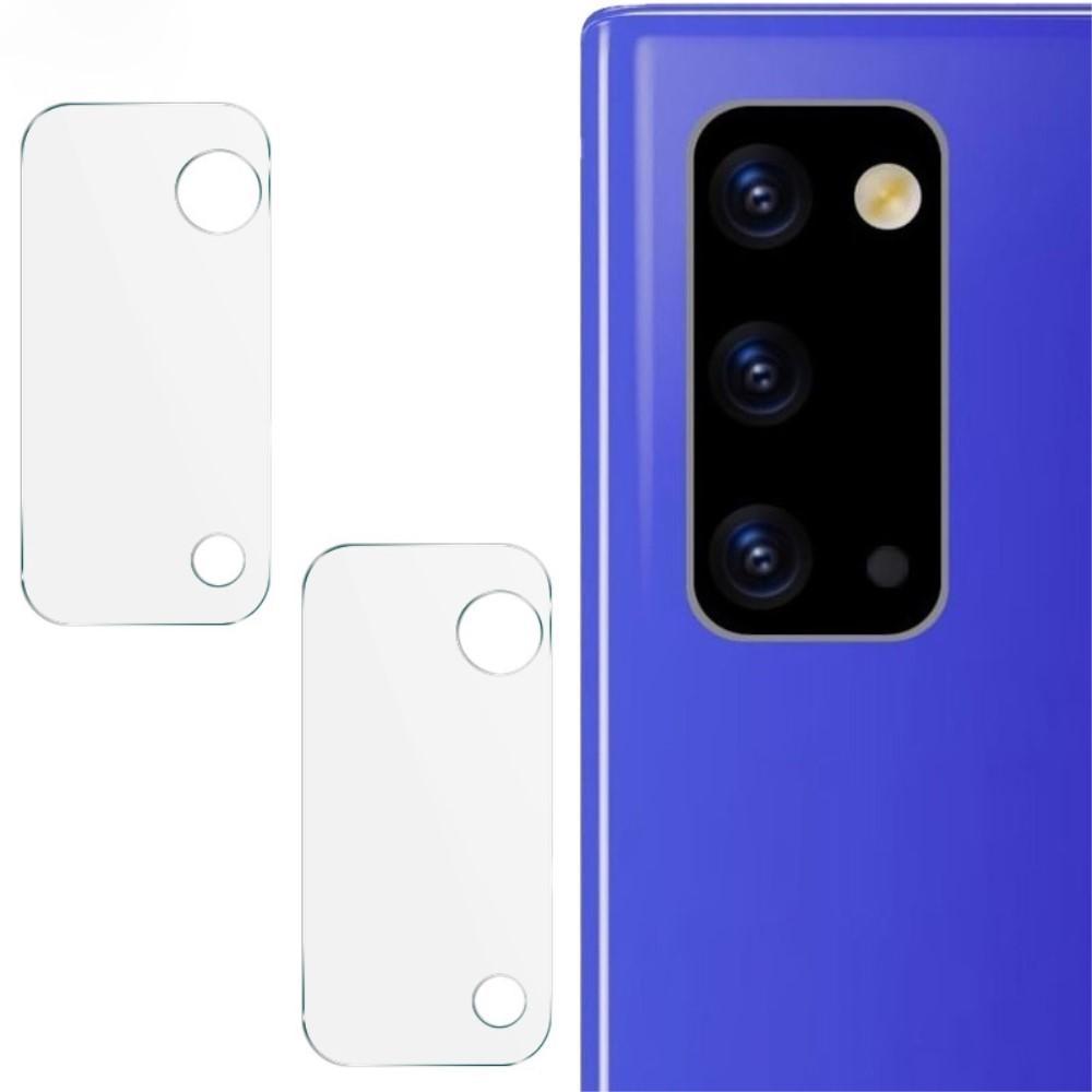 2-pack Härdat Glas Linsskydd Galaxy Note 20