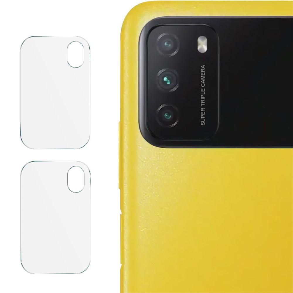 2-pack Härdat Glas Linsskydd Xiaomi Poco M3