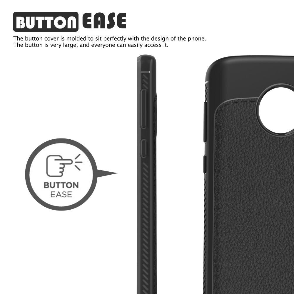 Gentry Series Leather TPU Case Moto G6 black
