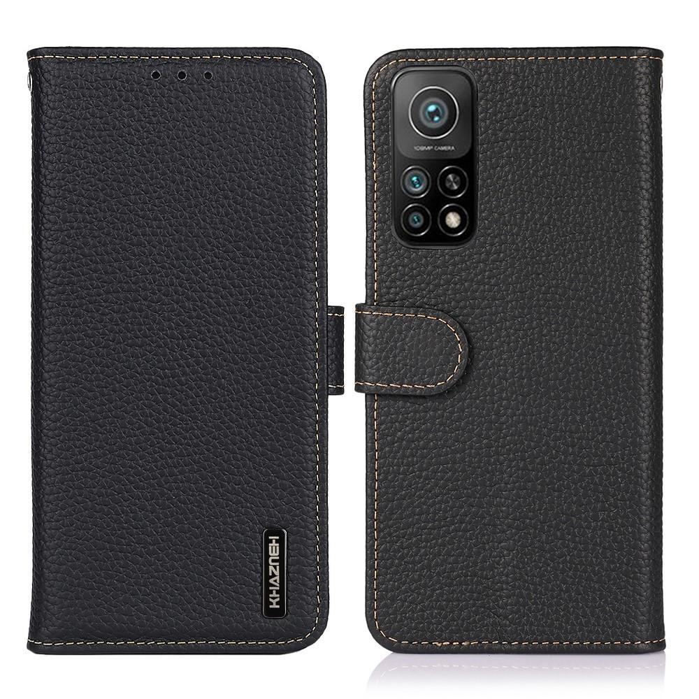 Real Leather Wallet Xiaomi Mi 10T/10T Pro Black
