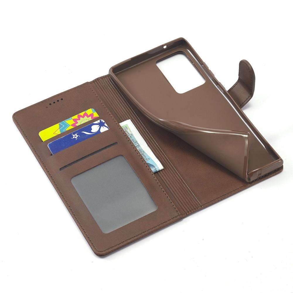 Plånboksfodral Galaxy Note 20 Ultra brun