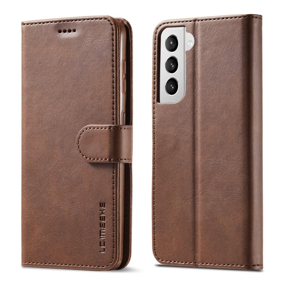 Plånboksfodral Samsung Galaxy S21 brun