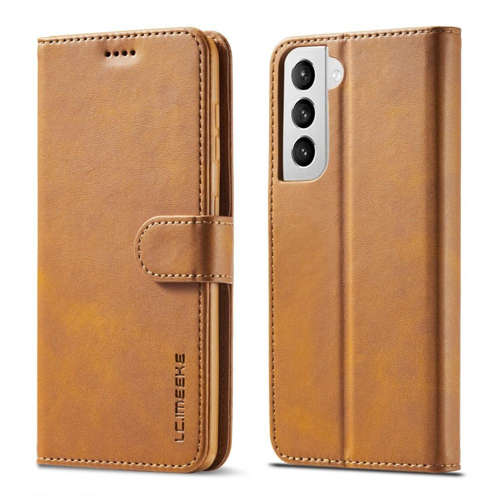 Plånboksfodral Samsung Galaxy S21 Plus cognac