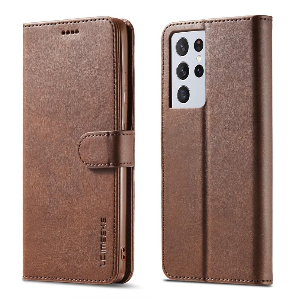 Plånboksfodral Samsung Galaxy S21 Ultra brun