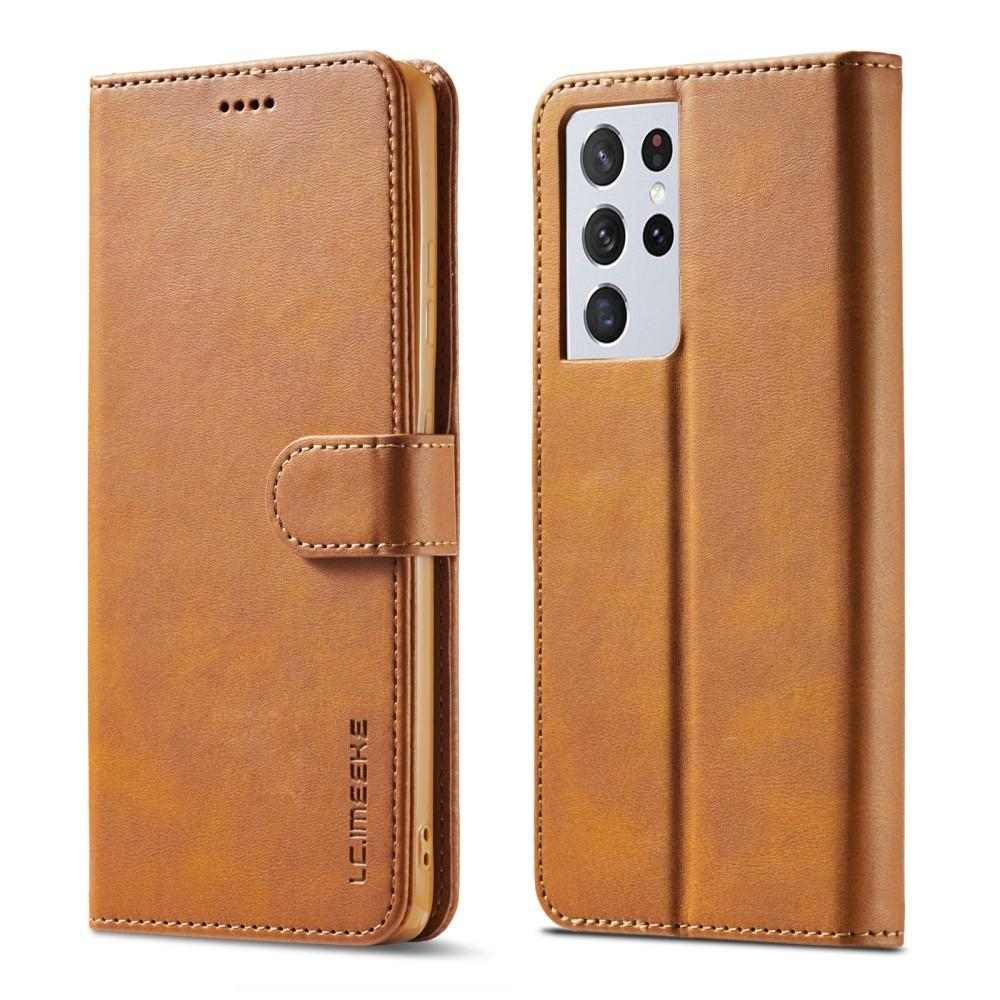 Plånboksfodral Samsung Galaxy S21 Ultra cognac