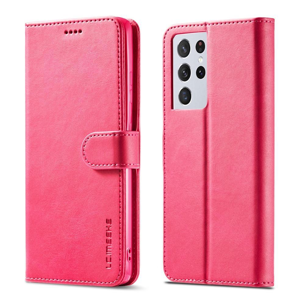 Plånboksfodral Samsung Galaxy S21 Ultra rosa
