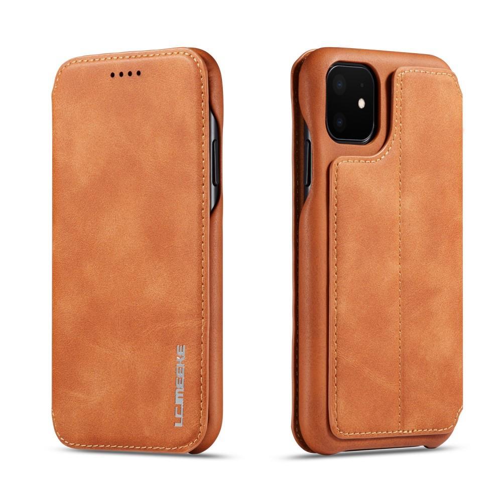Slim Plånboksfodral iPhone 11 cognac