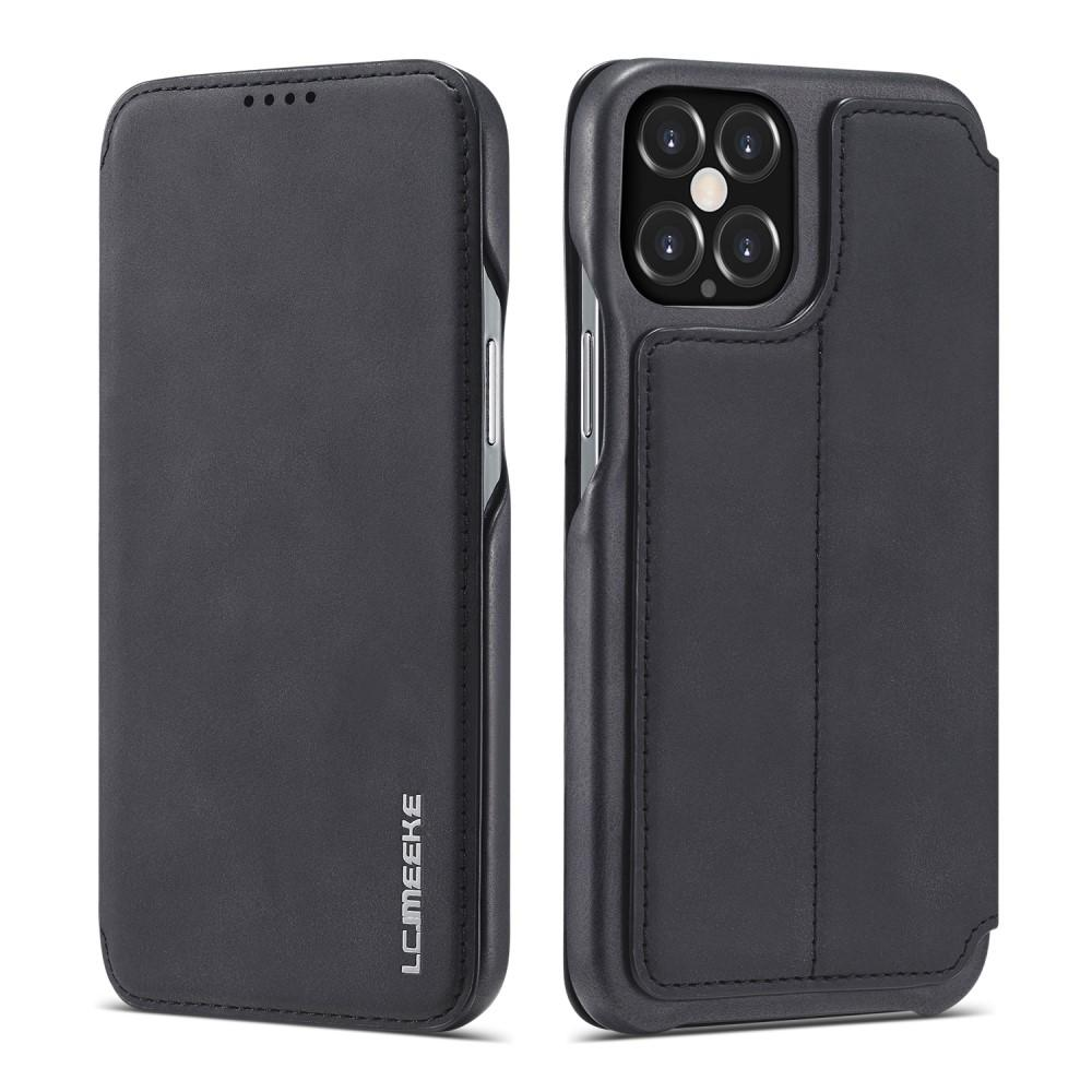 Slim Plånboksfodral iPhone 12/12 Pro Svart