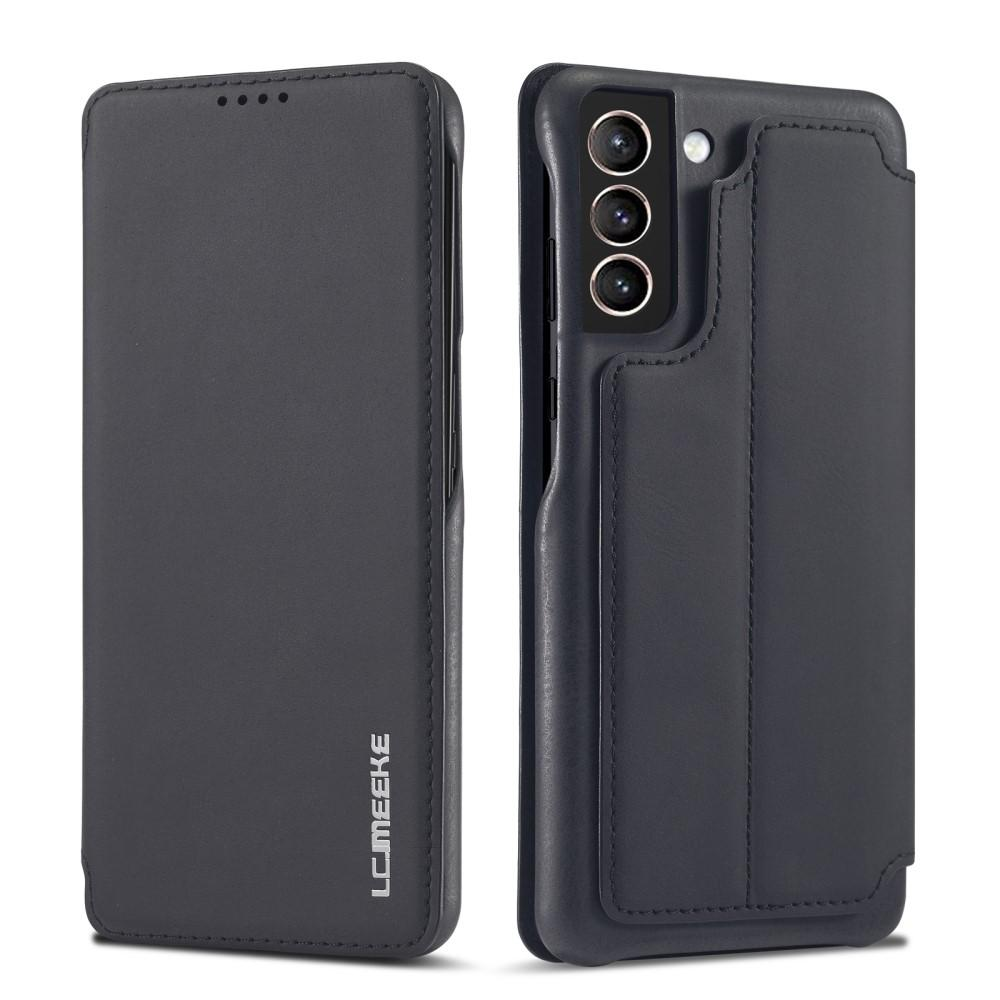 Slim Plånboksfodral Samsung Galaxy S21 Svart