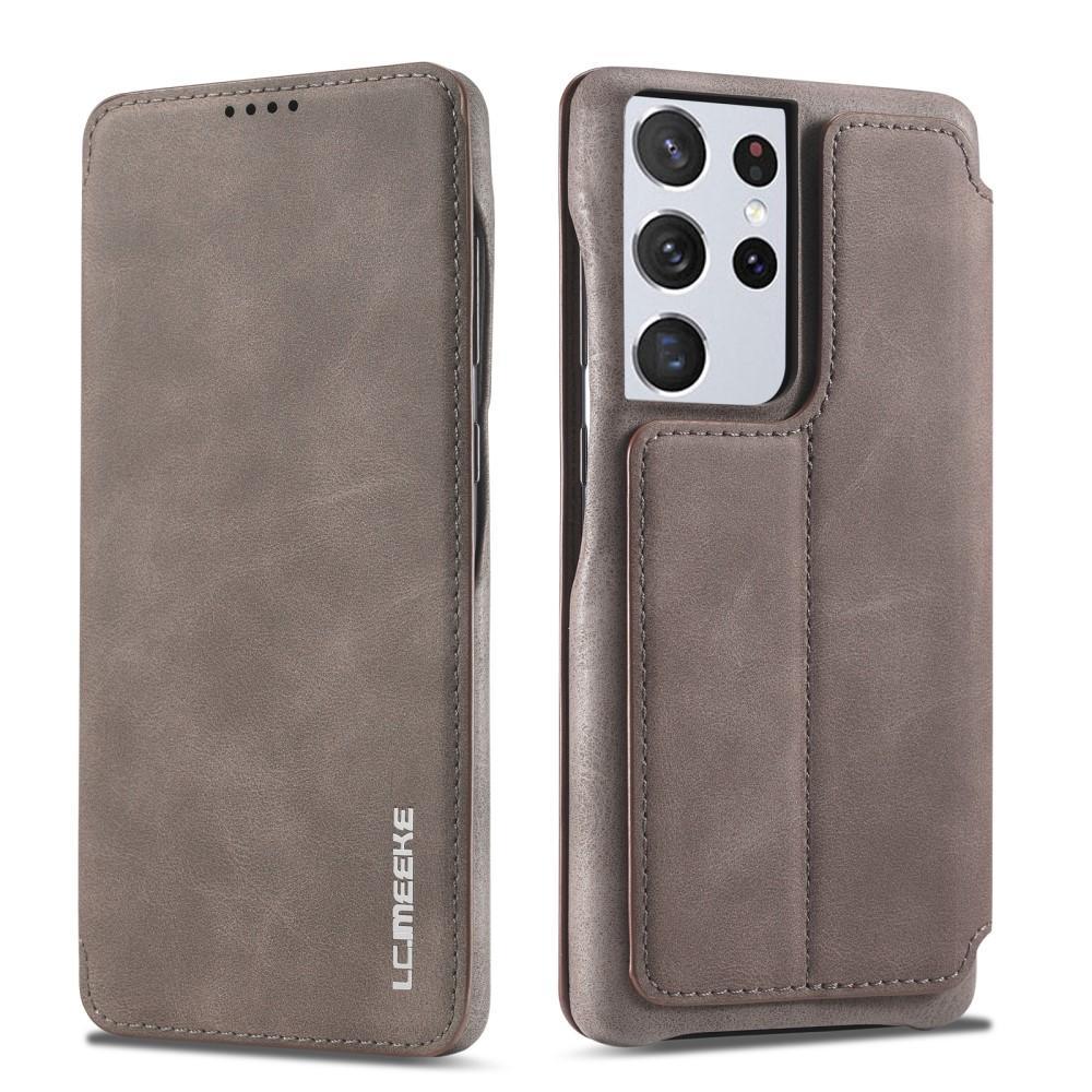 Slim Plånboksfodral Samsung Galaxy S21 Ultra Brun