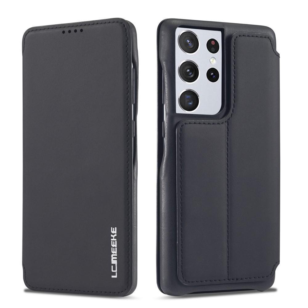 Slim Plånboksfodral Samsung Galaxy S21 Ultra Svart