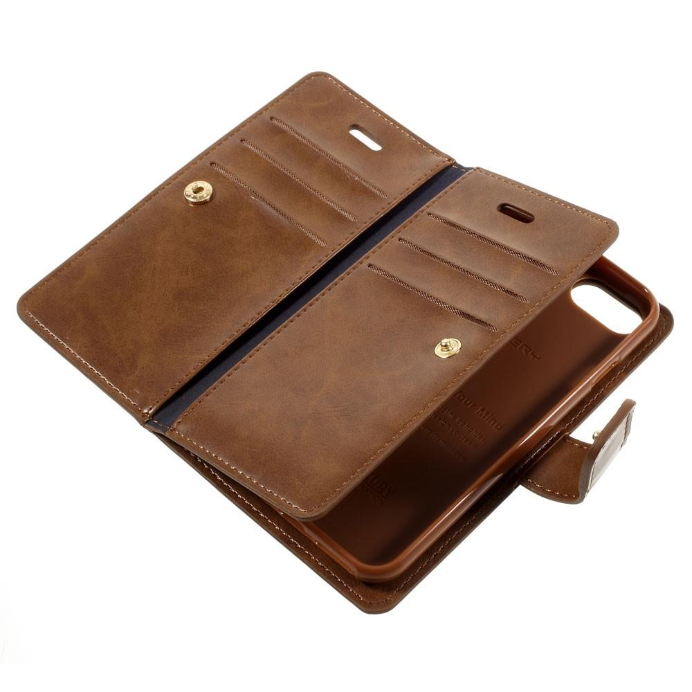 Mansoor Wallet Diary Case iPhone 7/8/SE 2020 brun