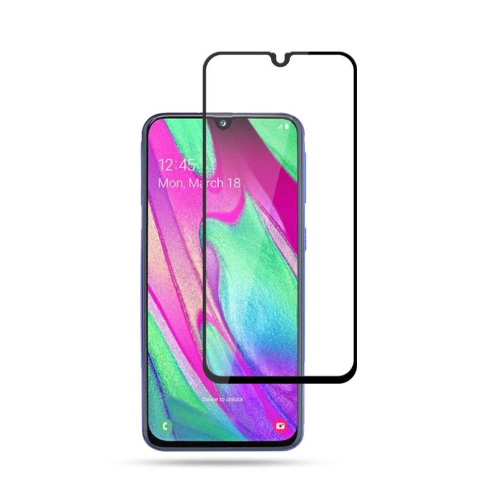Heltäckande Härdat Glas Galaxy A40 svart