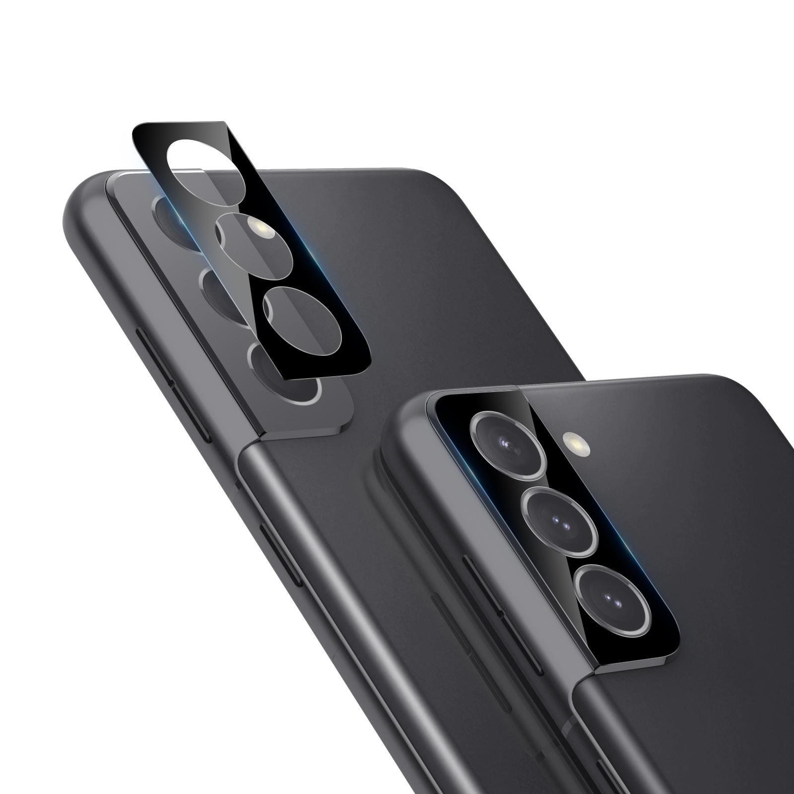 0.22mm InvisiFilm Kameraskydd Galaxy S21 (2-pack)