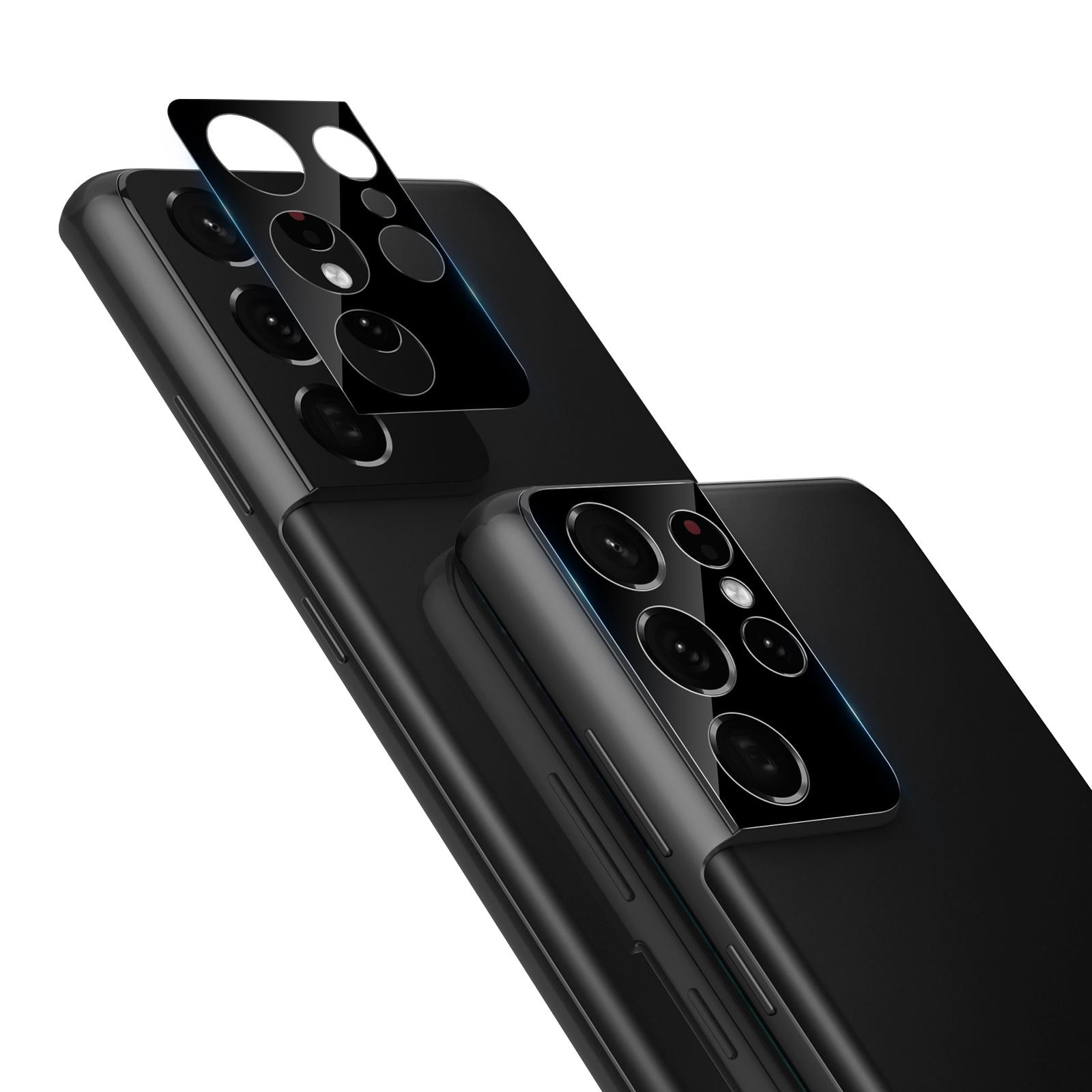 0.22mm InvisiFilm Kameraskydd Galaxy S21 Ultra (2-pack)