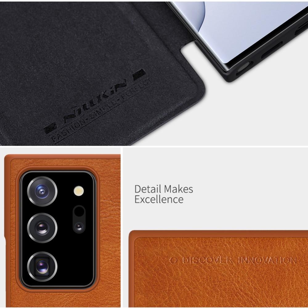 Qin Series Läderfodral Galaxy Note 20 Ultra svart