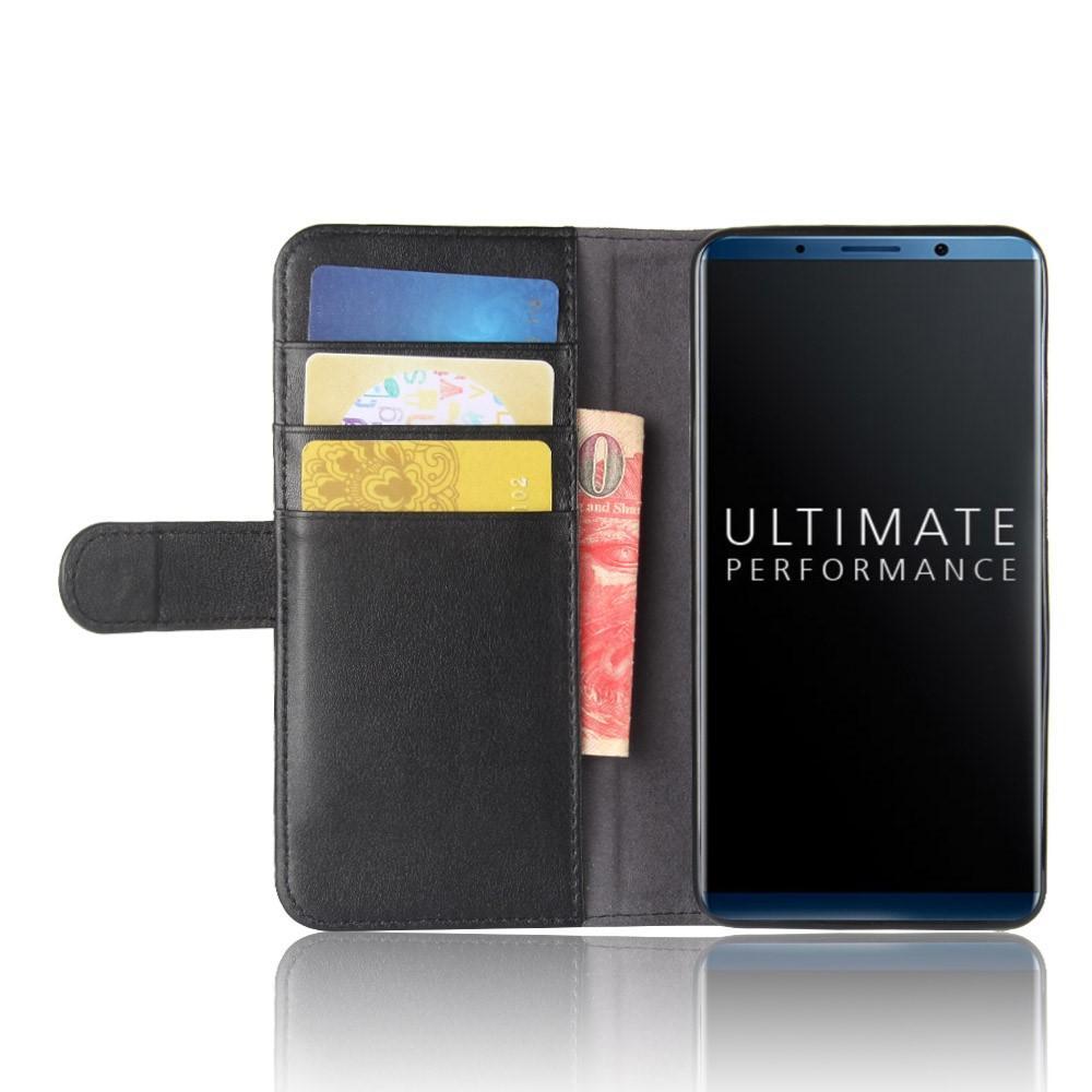 Äkta Läderfodral Huawei Mate 10 Pro svart