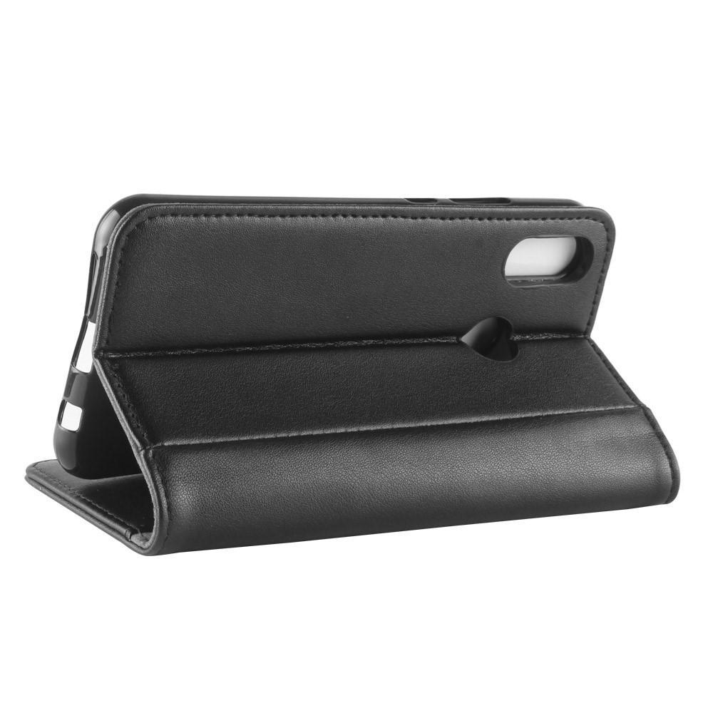 Äkta Läderfodral Huawei P20 Lite svart