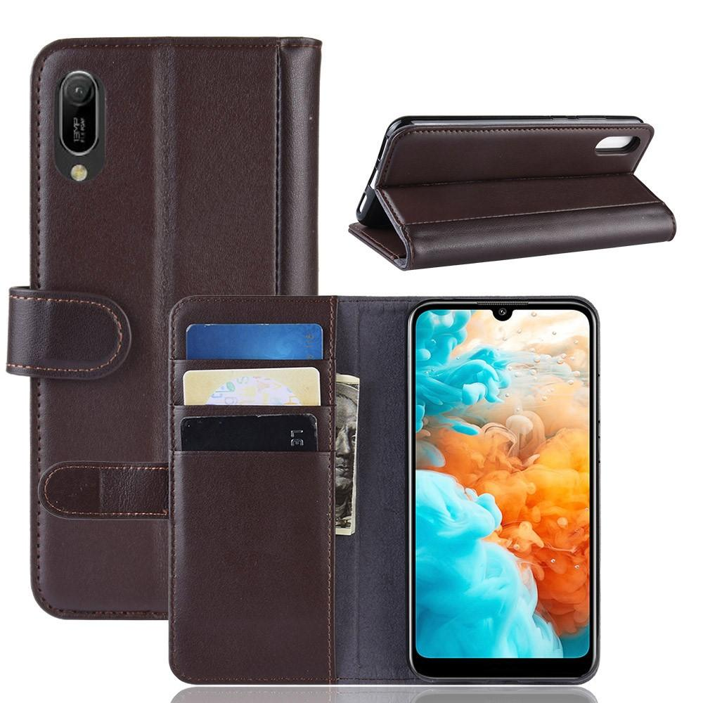 Äkta Läderfodral Huawei Y6 2019 brun