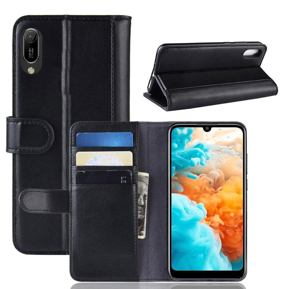 Äkta Läderfodral Huawei Y6 2019 svart