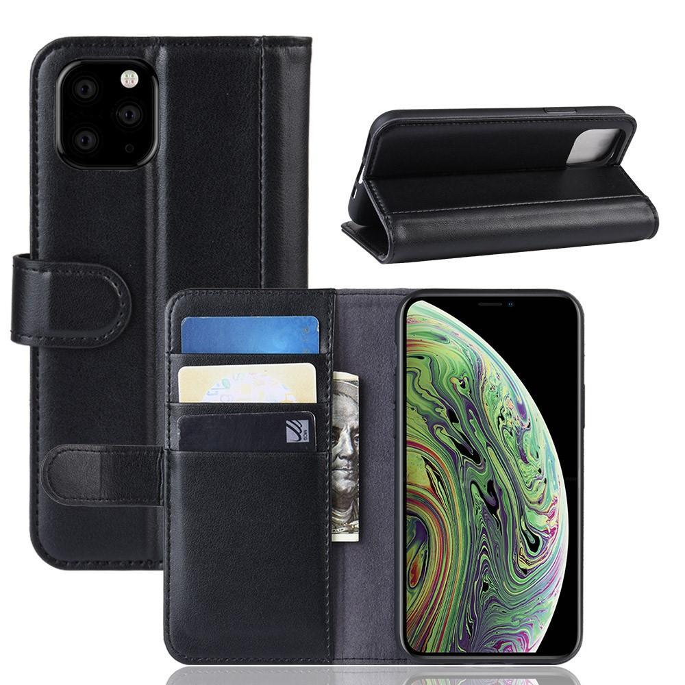 Äkta Läderfodral iPhone 11 Pro svart