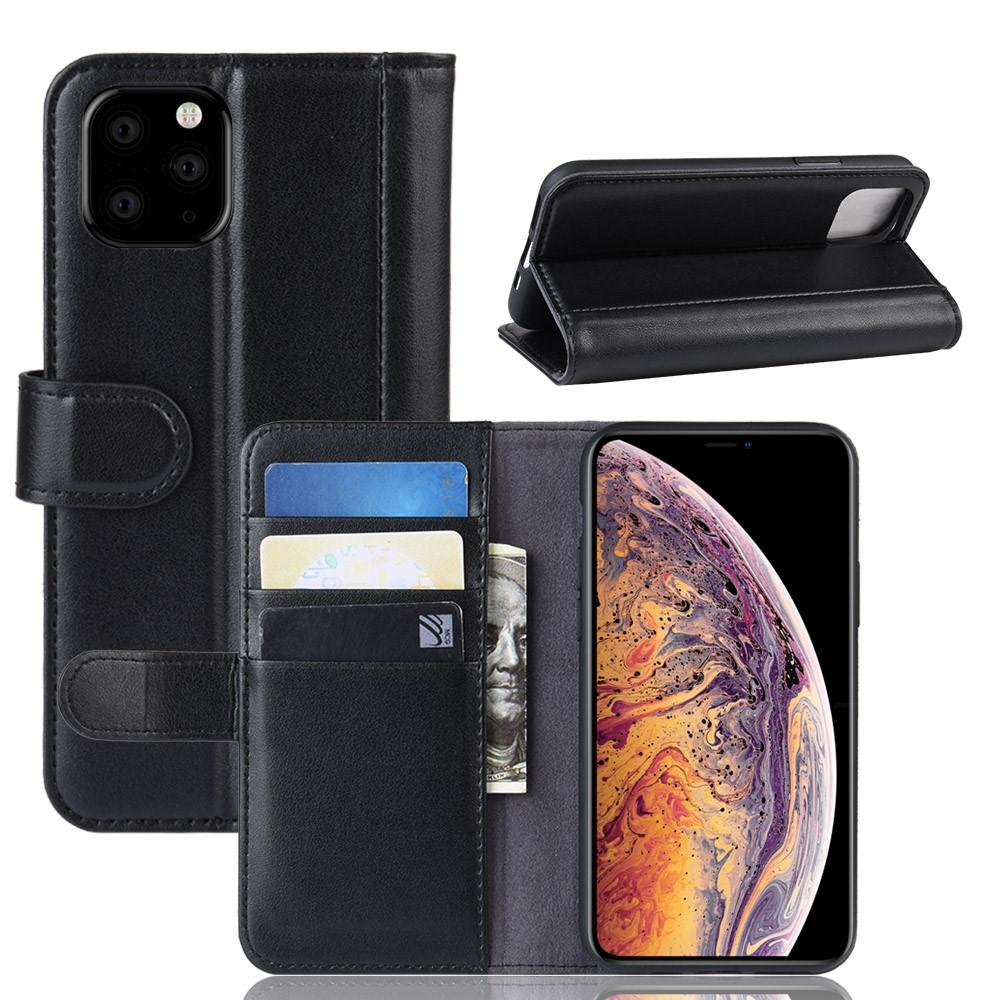 Äkta Läderfodral iPhone 11 Pro Max svart