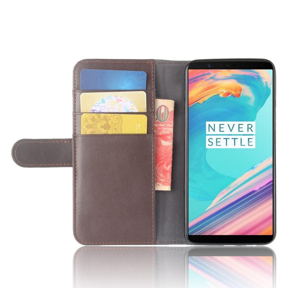 Äkta Läderfodral OnePlus 5T brun