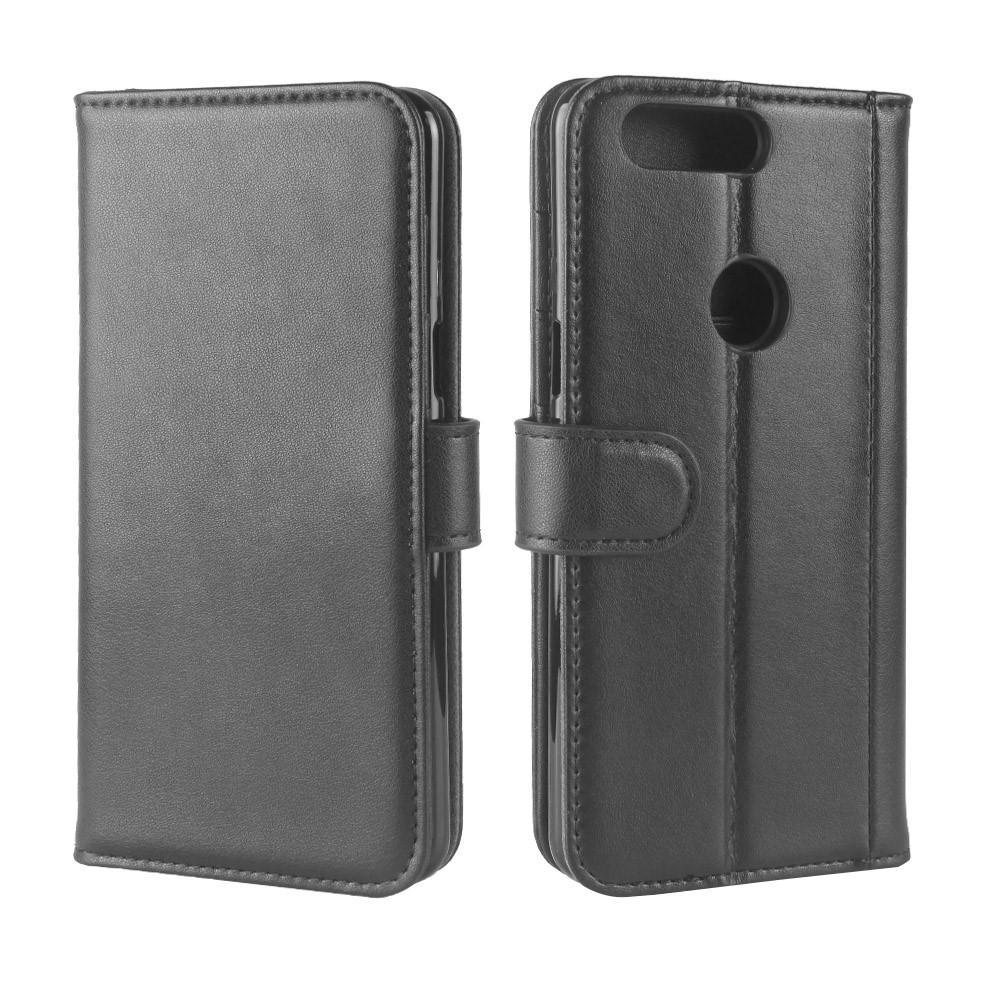 Äkta Läderfodral OnePlus 5T svart