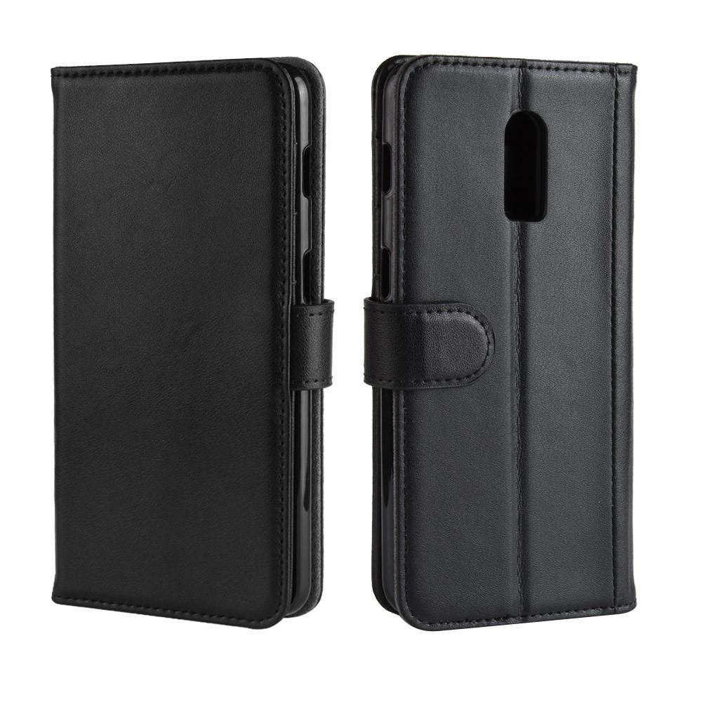 Äkta Läderfodral OnePlus 6T svart