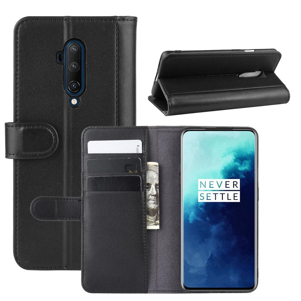 Äkta Läderfodral OnePlus 7T Pro svart