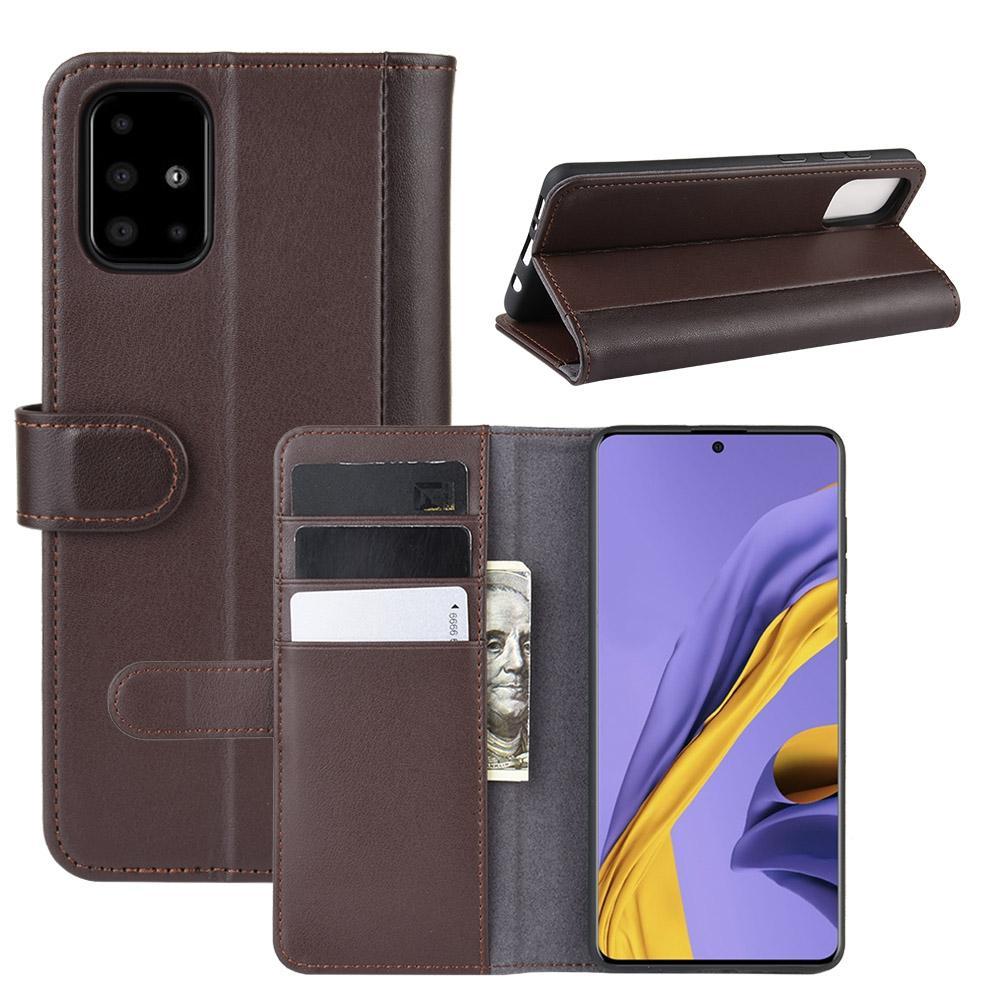 Äkta Läderfodral Samsung Galaxy A51 brun