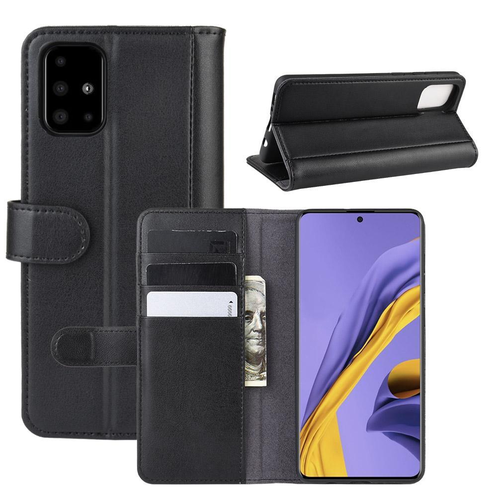 Äkta Läderfodral Samsung Galaxy A51 svart